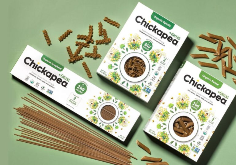 Chickapea introduces +Greens plant-based pasta line