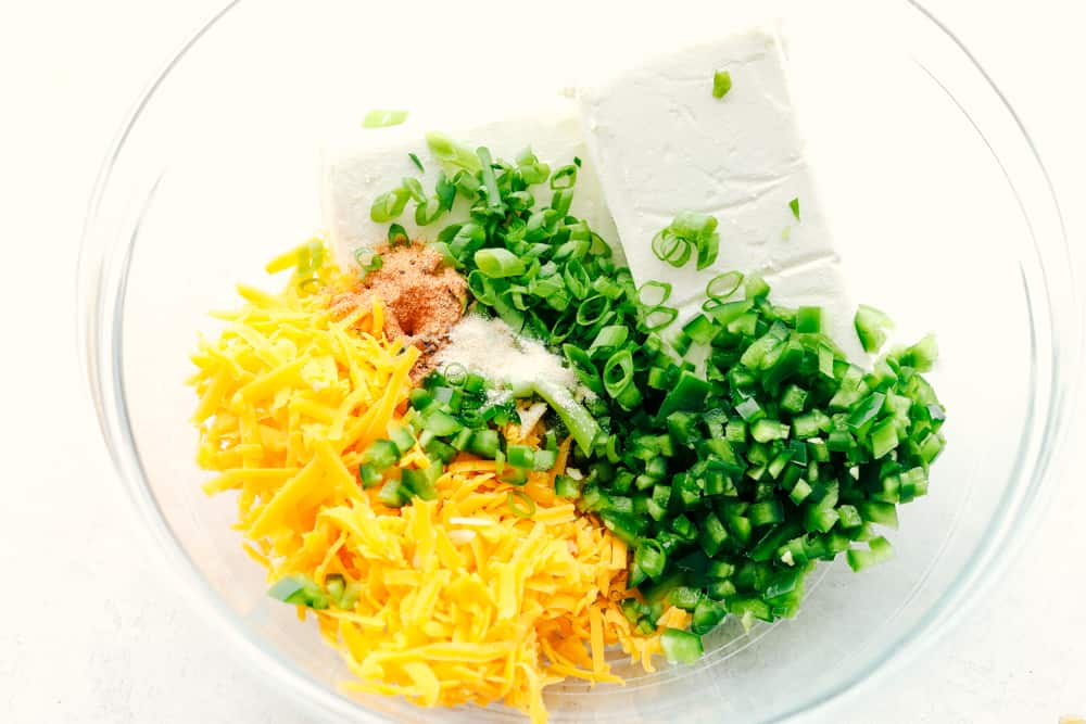 Ingredients for the best Jalapeno bacon cheese ball