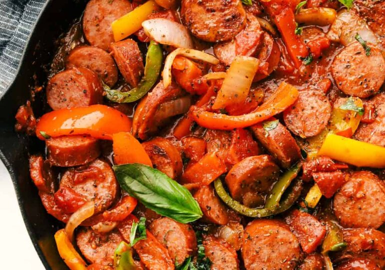 Skillet Italian Sausage and Peppers