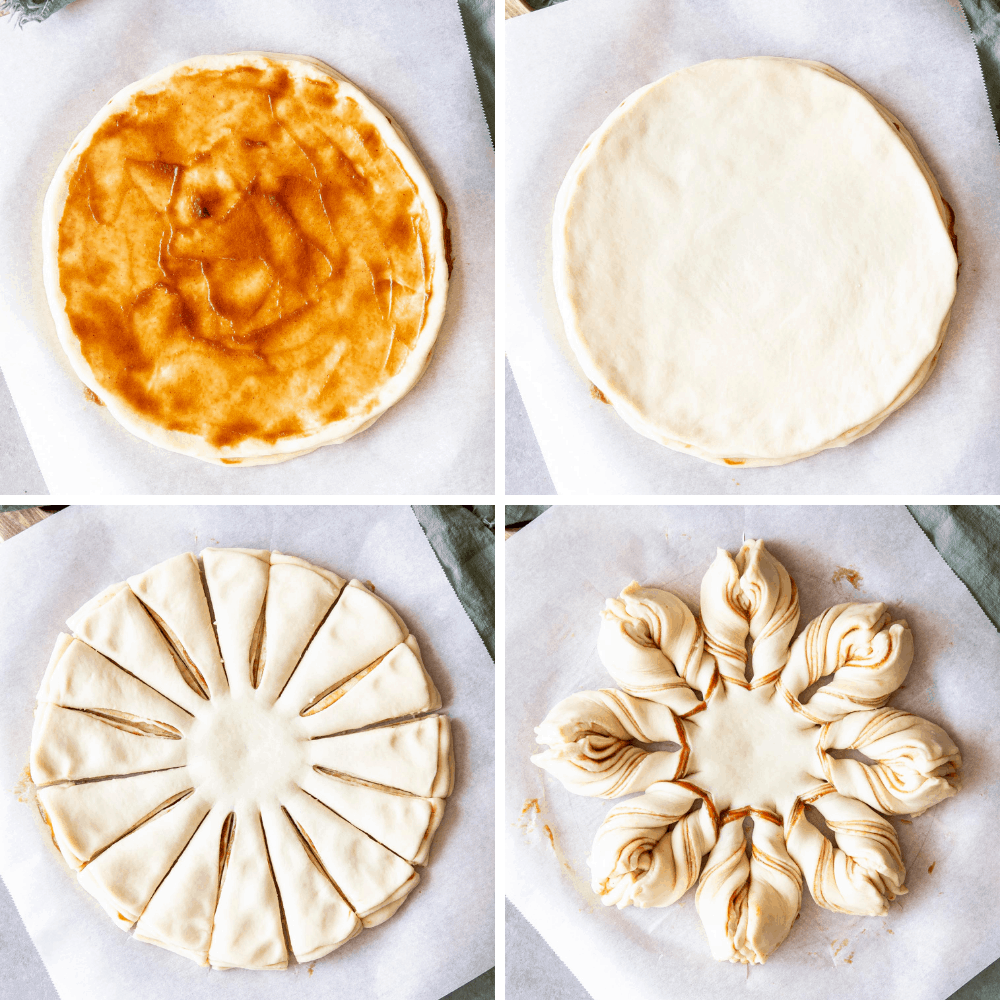 Making, layering and cutting Star Bread