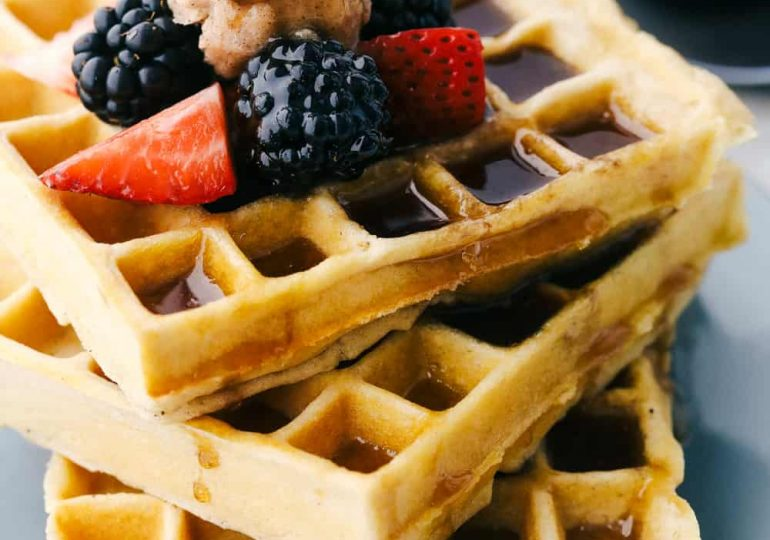 Fluffy and Perfect Homemade Waffles