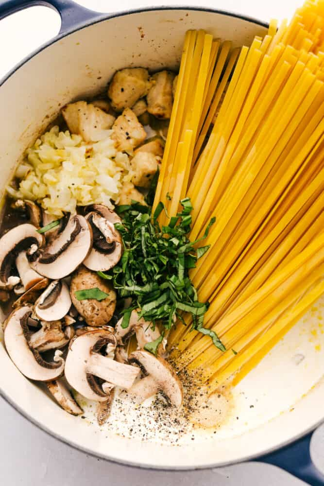 All the ingredients in one pot.