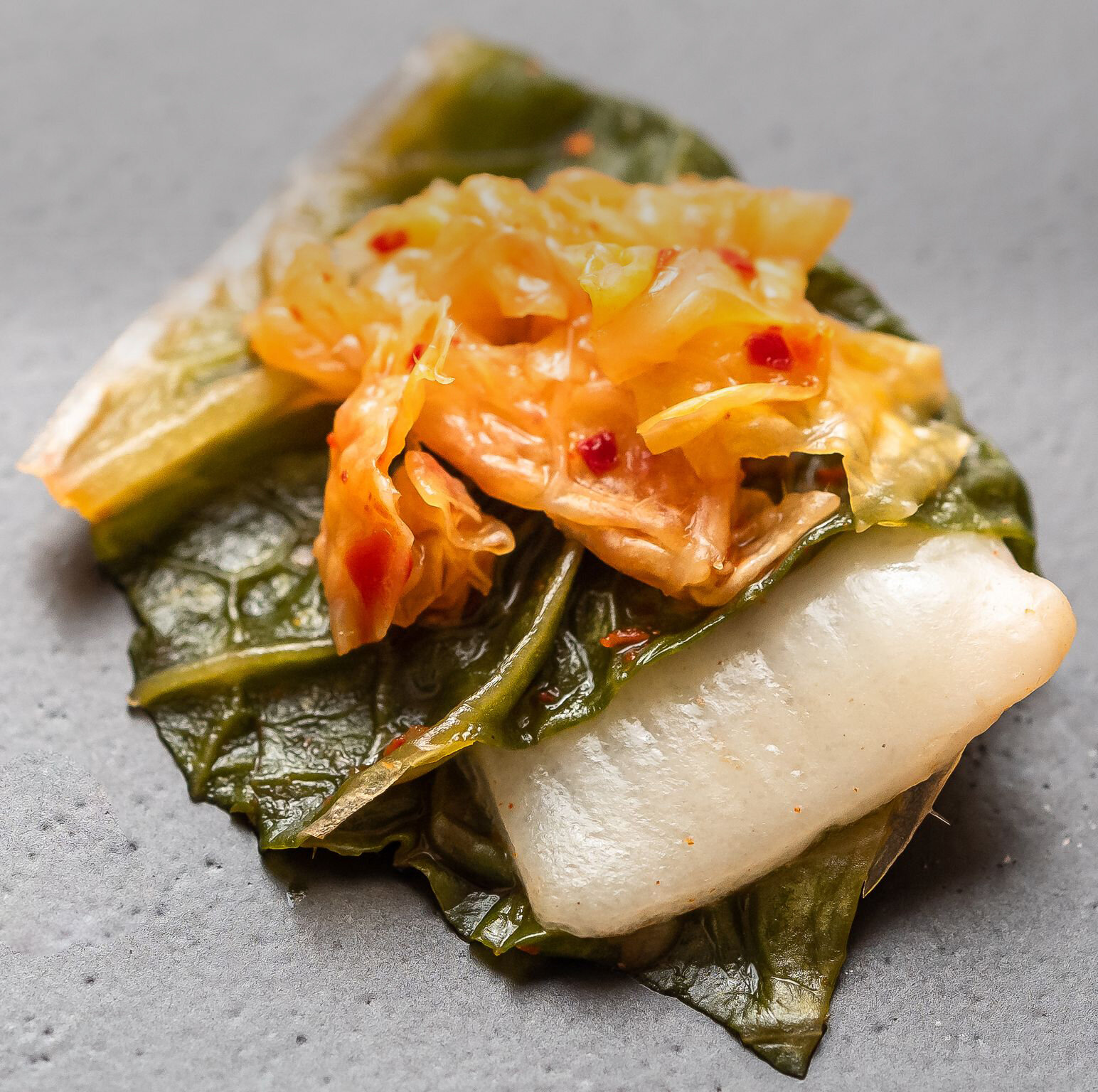 Kimchi made with cell-based fish from BlueNalu